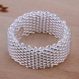 Silver Mesh Ring - Sacred Motivation - 2