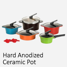 Hard Anodized Ceramic Pot
