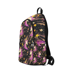 Watercolor unicorn seamless pattern Fabric Backpack for Adult (Model 1659)