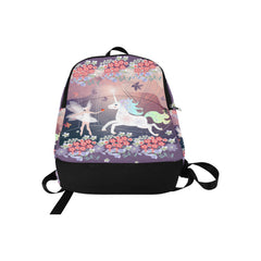 Beautiful fairy and white unicorn Fabric Backpack for Adult