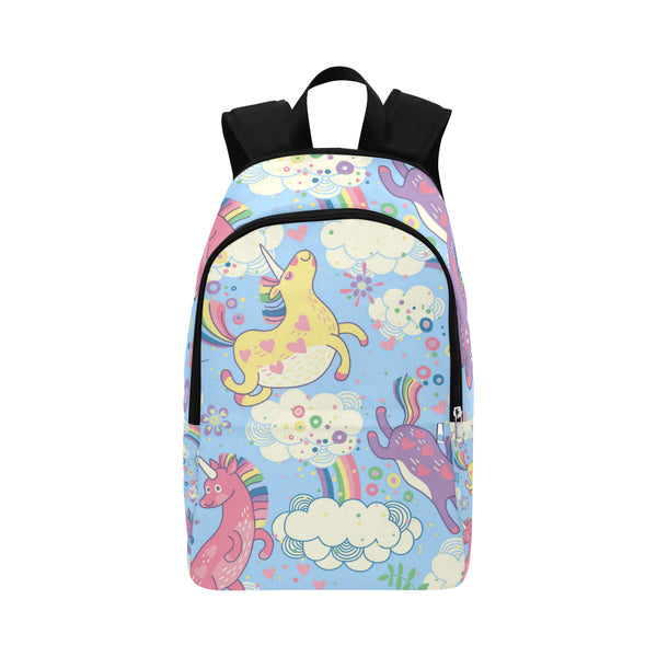 unicorn with rainbow Fabric Backpack for Adult (Model 1659)