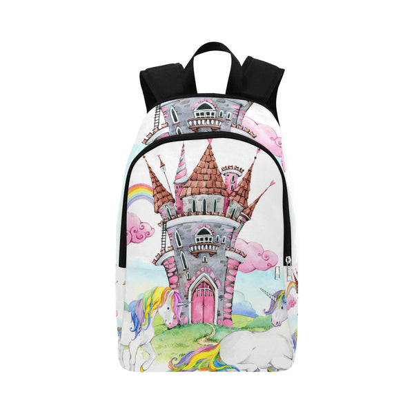 unicorns castle Fabric Backpack for Adult (Model 1659)