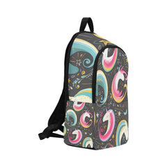 Seamless pattern with cute unicorns Fabric Backpack for Adult (Model 1659)