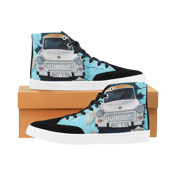 Car Graffiti Custom Design High Top Shoes for Men