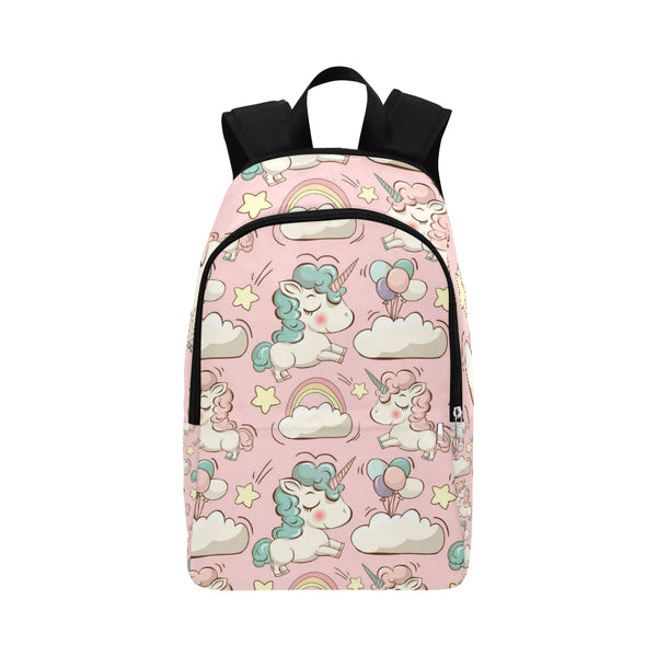 Vector pattern with cute unicorns Fabric Backpack for Adult (Model 1659)