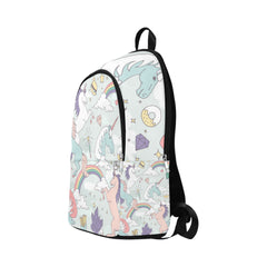 Cute Unicorns Rainbows Clouds Stars and Crystals Fabric Backpack for Adult (Model 1659)