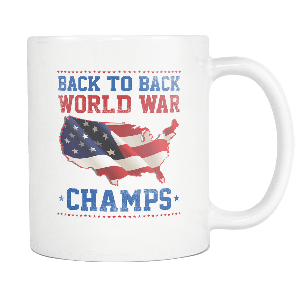 Back To Back World Champs - 11 Oz White Mug