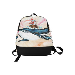 Great Whale Unicorn with Fortress Fabric Backpack for Adult (Model 1659)