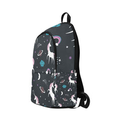 seamless pattern, unicorns theme Fabric Backpack for Adult (Model 1659)