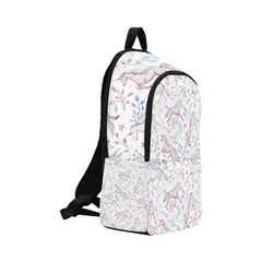 Watercolor pattern unicorns Fabric Backpack for Adult (Model 1659)