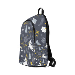 Christmas seamless illustration with unicorn Fabric Backpack for Adult