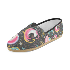 Seamless Pattern With Cute Unicorns Women's Casual Shoes (Model 004)