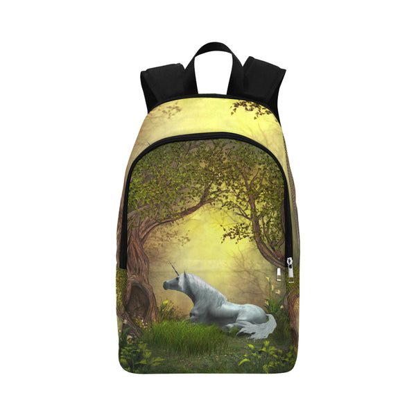 Woodland Unicorn Fabric Backpack for Adult (Model 1659)