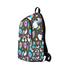 Seamless Pattern with Unicorns Donuts Rainbow Fabric Backpack for Adult (Model 1659)