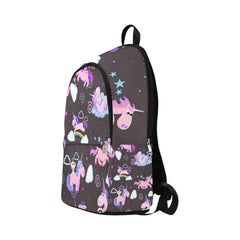 Magic Unicorn Flying On Rainbow Fabric Backpack for Adult (Model 1659)