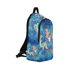 Watercolor Pair of Flying Unicorns Fabric Backpack for Adult (Model 1659)