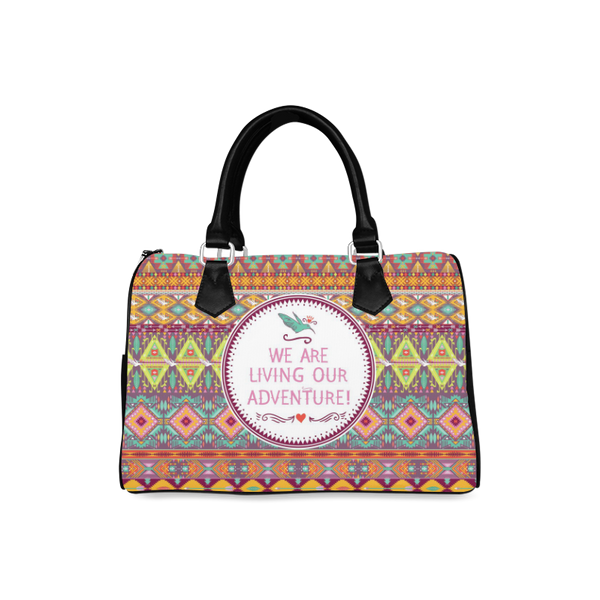 Boston Handbag - Aztec Design