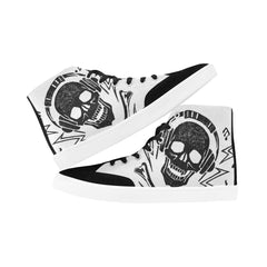 MusicSkull Custom Design High Top Shoes for Men