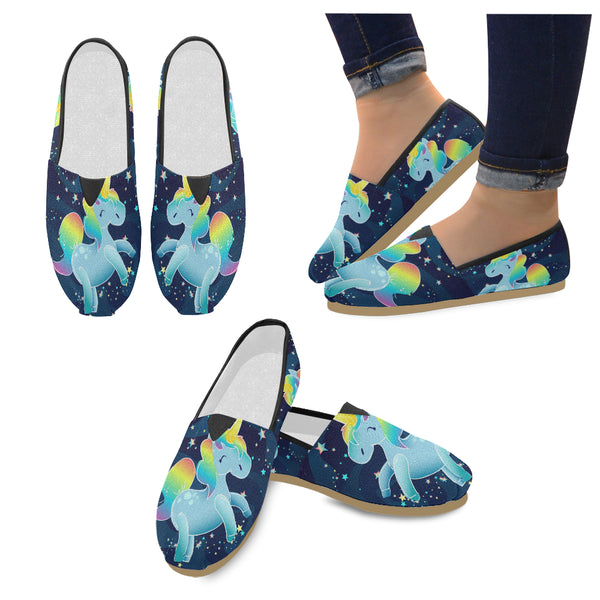 Unicorn In Space Women's Casual Shoes (Model 004)
