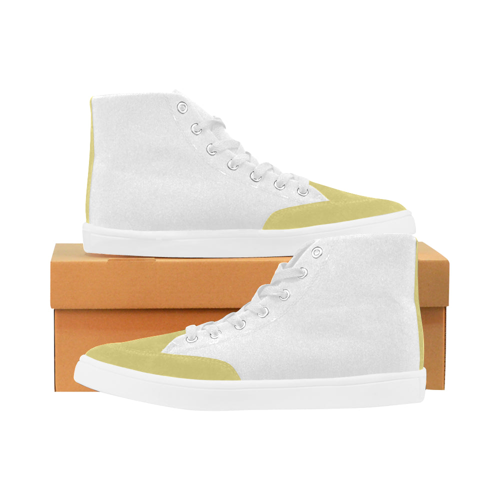 YELLOW Custom Design High Top Shoes For Women