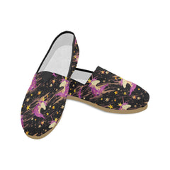 Watercolor Unicorn Seamless Pattern Women's Casual Shoes (Model 004)