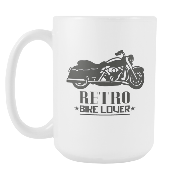Retro Bike Lover - 15 oz White Coffee Mug