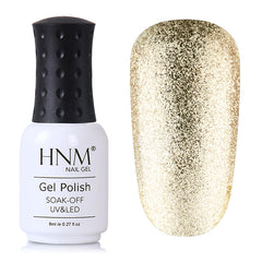 HNM 8ML Glitter UV Gel Nail Polish Long Last Lacquer Semi Permanent Gelpolish