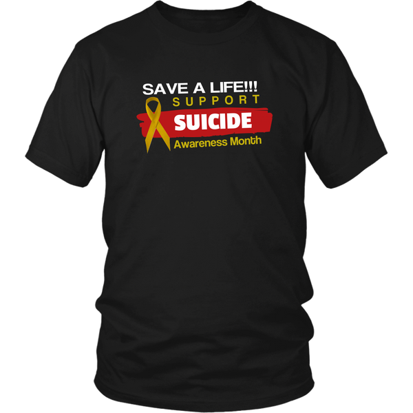 Support Suicide Awareness Month Black T-Shirt