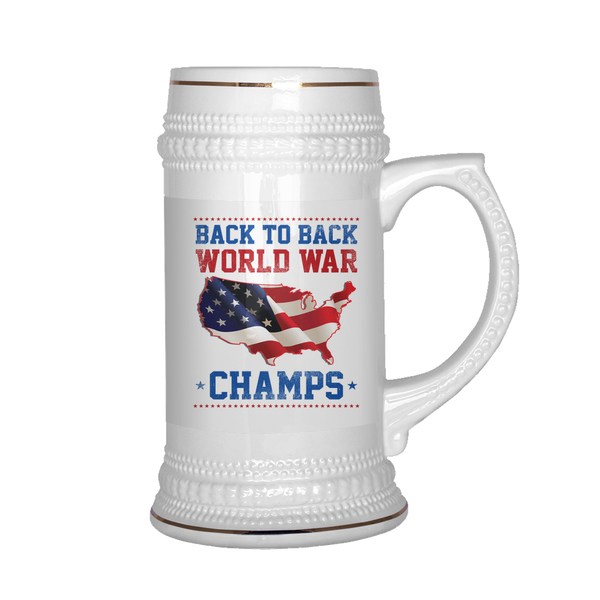 Back To Back World Champs - White Stein
