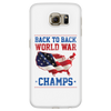 Back To Back World Champs - White Samsung Galaxy S6 Phone Case FREE SHIPPING