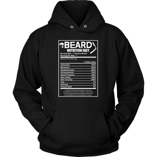 Beard Nutrition Facts Hoodie