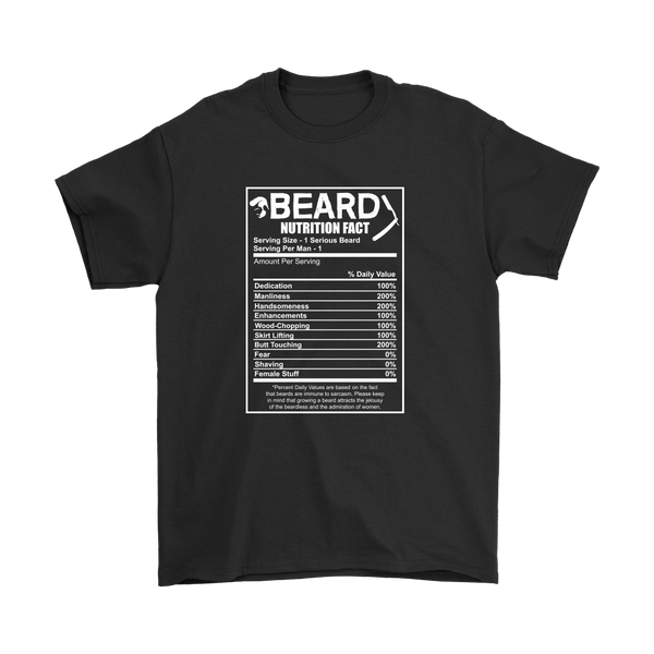 Beard Nutrition Facts Shirt