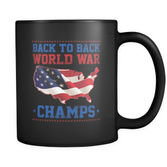 Back To Back World Champs - 11 Oz Black Mug