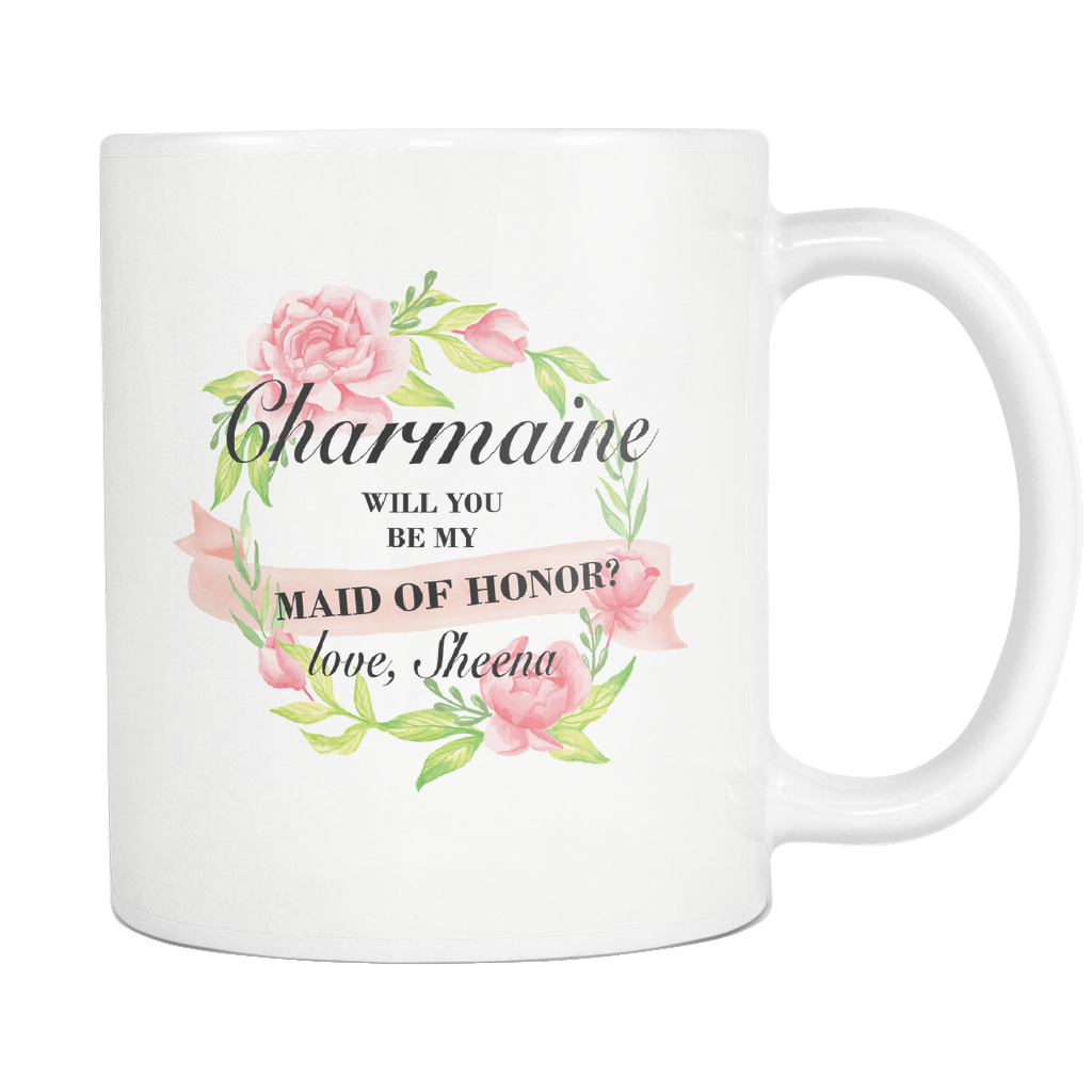 Charmaine 11 oz white mug