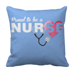 Proud to be a Nurse-HEART Pillow Case