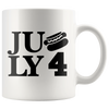 July 4 White 11 oz Coffee Mug