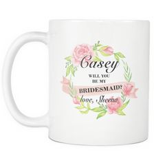 Casey 11 oz white mug