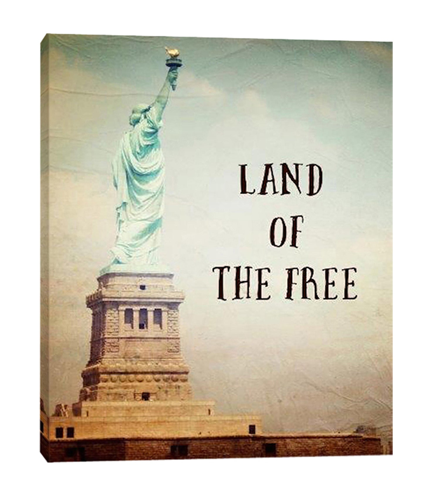 Ashley-Davis,Modern & Contemporary,Buildings & Cityscapes,U.S. States,statue of liberty,usa,statue,liberty,land of the free,words and phrases,Blue,Charcoal Gray,Teal Blue,White,Gray