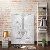 Cole-Borders,Modern & Contemporary,Entertainment,banjo,music,musicians,drawing,sketches,words and phrases,White,Gray