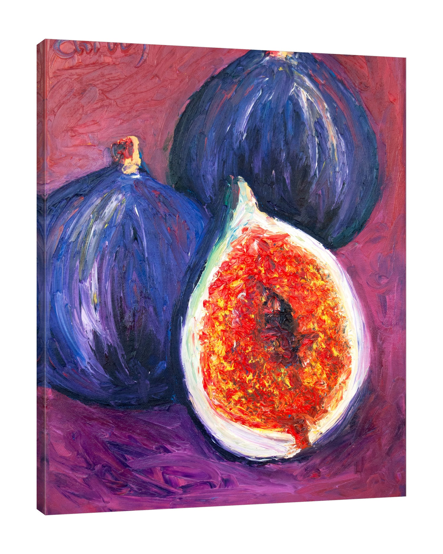 Chiara-Magni,Modern & Contemporary,Food & Beverage,Finger-paint,fig,figs,food,fruits,vegetables,violet,blue,red,yellow,orange,