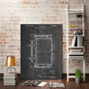 Cole-Borders,Modern & Contemporary,Food & Beverage,beer barrel,beer,barrel,blueprint,words and phrases,us patented,numbers,Charcoal Gray,Slate Gray,Gray,White,Black