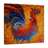 Chiara-Magni,Modern & Contemporary,Animals,Finger-paint,chicken,chickens,hens,animals,animal,farm animal,rooster,roosters,red,orange,yellow,feather,