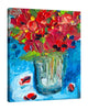 Chiara-Magni,Modern & Contemporary,Floral & Botanical,Finger-paint,vases,vase,florals,floral,flowers,flower,blue,red,bouquets,leaves,white,