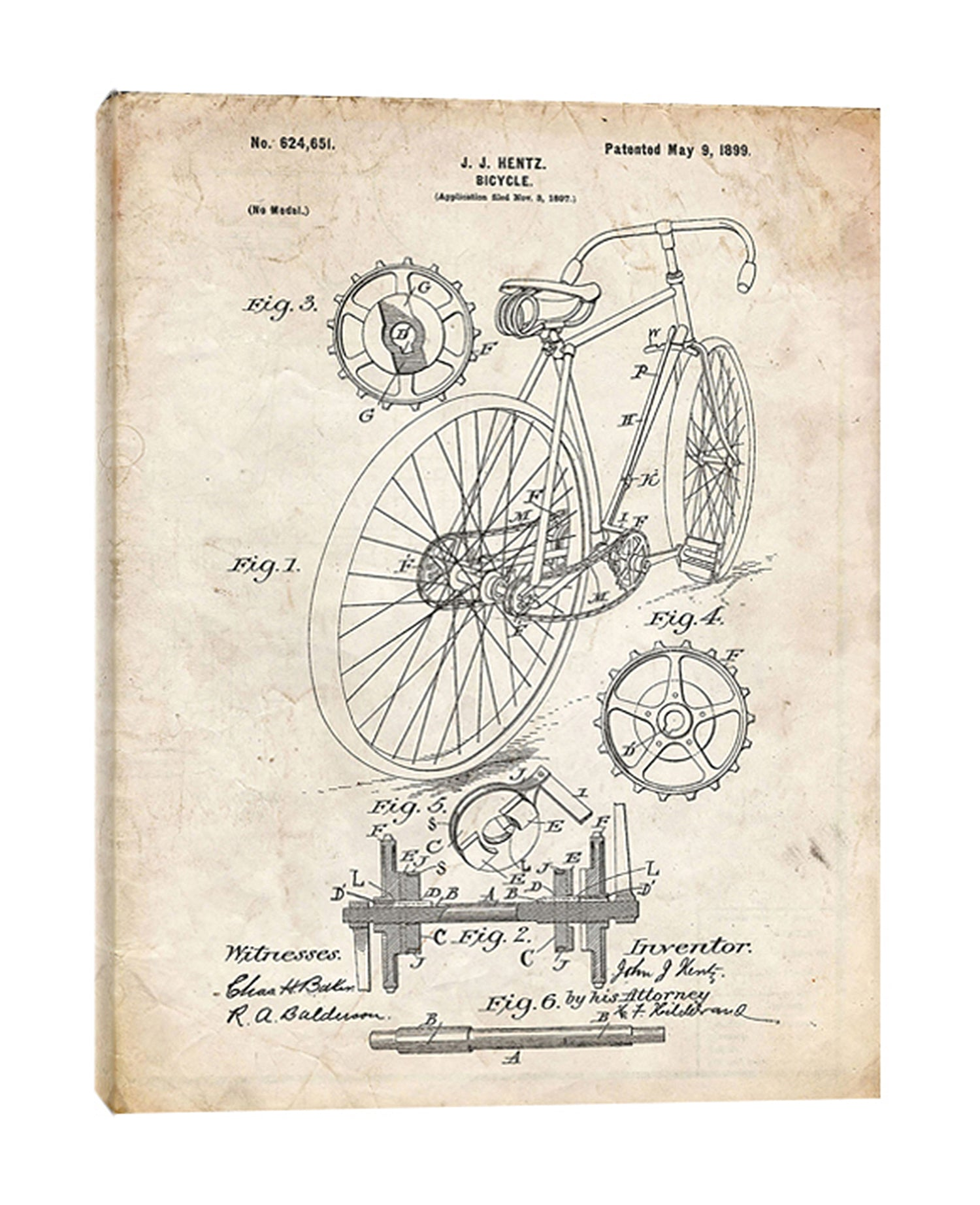 Cole-Borders,Modern & Contemporary,Transportation,bicycle,bikes,bicycles,blueprints,patented,drawings,sketches,words and phrases,rustic,Mist Gray,White,Gray,Tan White,Charcoal Gray