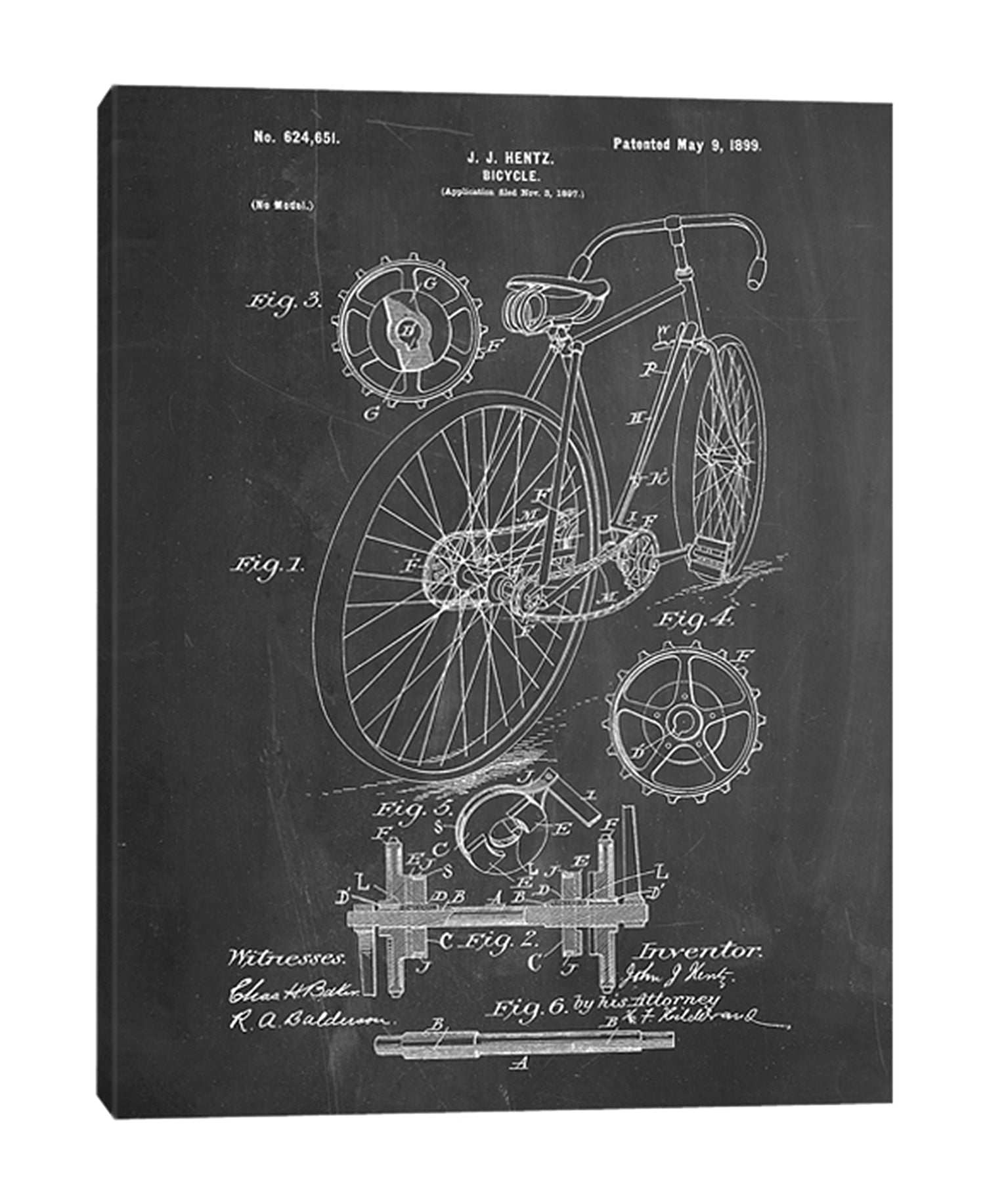 Cole-Borders,Modern & Contemporary,Transportation,bicycle,bikes,bicycles,blueprints,patented,drawings,sketches,words and phrases,Red,Charcoal Gray,Slate Gray,Blue,Black