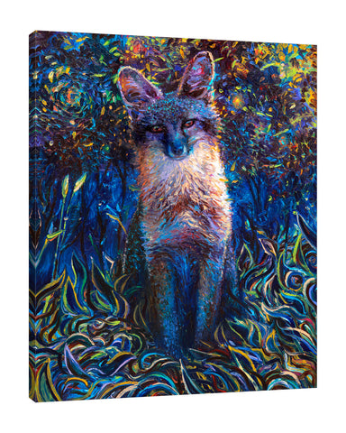 Iris-Scott,Modern & Contemporary,Animals,animals,animal,fox,foxes,big cats,big cat,forests,forest,leaves,leaf,blue,magical,schenic,