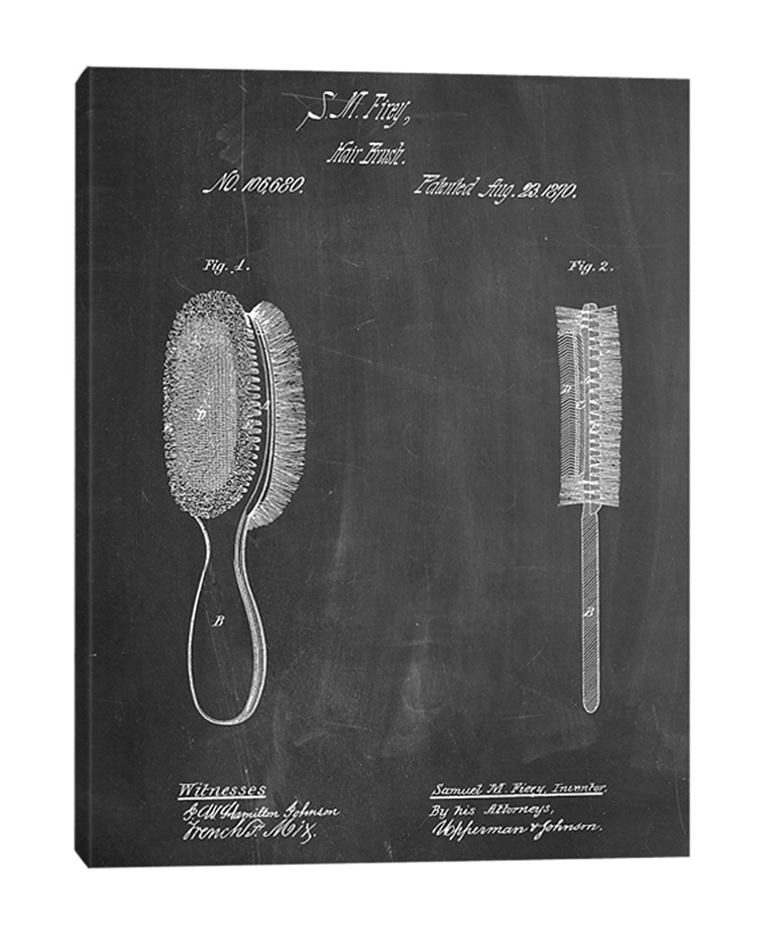 Cole-Borders,Modern & Contemporary,Entertainment,hair brush,brush,patented,drawing,sketches,wirds and phrases,hairbrushes,Red,Charcoal Gray,Gray,Black