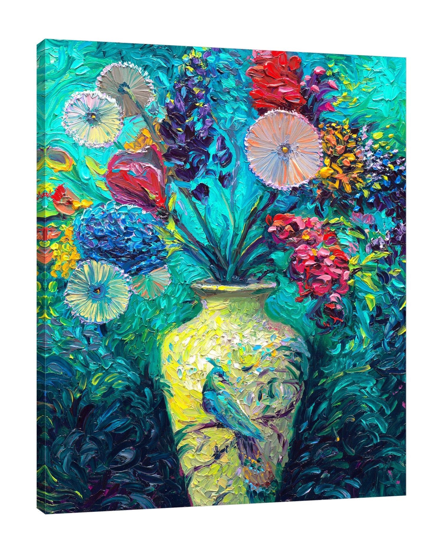 Iris-Scott,Modern & Contemporary,Floral & Botanical,Animals,florals,floral,flowers,flower,bouquet,bouquets,vases,vase,vessel,vessels,peacock,peacocks,animals,animal,strokes,bloom,