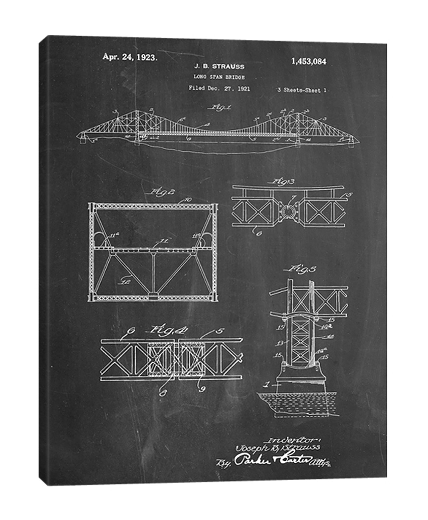Cole-Borders,Modern & Contemporary,Entertainment,long span bridge,bridges,bridge,blueprint,drawing,sketches,numbers,Jade Blue,Charcoal Gray,Gray,White,Black