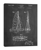 Cole-Borders,Modern & Contemporary,Transportation,sailboats,boats,sailboat,patented,words and prhases,drawing,sketches,coastal,numbers,blueprint,Red,Black,Teal Blue,Charcoal Gray